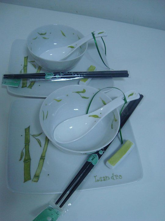 Juego para sushi x 2, by Porcelanas exclusivas Kari