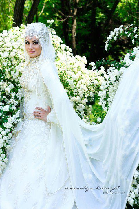 The Headpiece Instead Of The Usual Crown Muslimah Wedding Dress Muslim Wedding Gown Dream Wedding Dresses