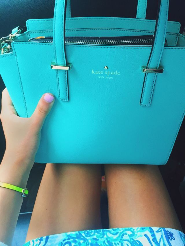 9b99f10c8338 Kate Spade bag  amp  Lilly dress both in Tiffany blue Kate