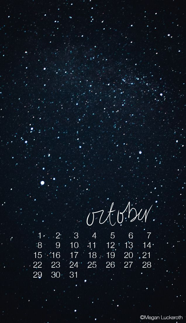 Free Downloadable October Mobile Wallpaper | Megan Luckeroth
