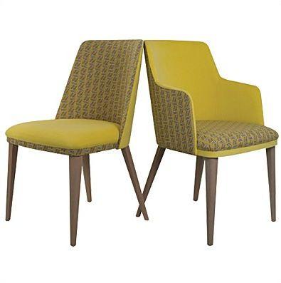 Simple chaise avec accoudoirs tapisse en tissu aston for Chaise schmidt