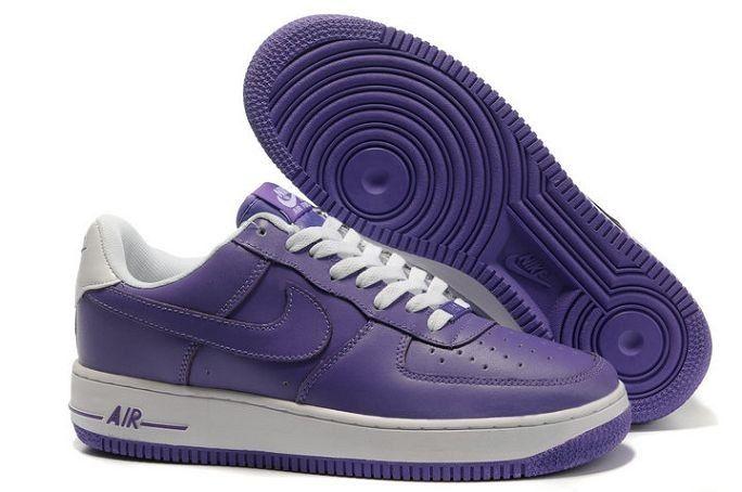 Meilleur Prix Nike Air Force 1 LA'03 Low Pour Homme Baskets pourpre Blanc