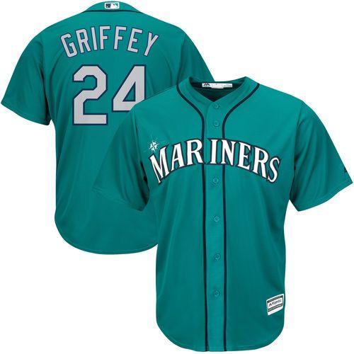 Ken Griffey Jr. Seattle Mariners Majestic Cool Base Player Jersey - Northwest Green