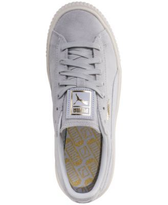 Puma Women's Suede Platform Core Casual Sneakers from Finish
