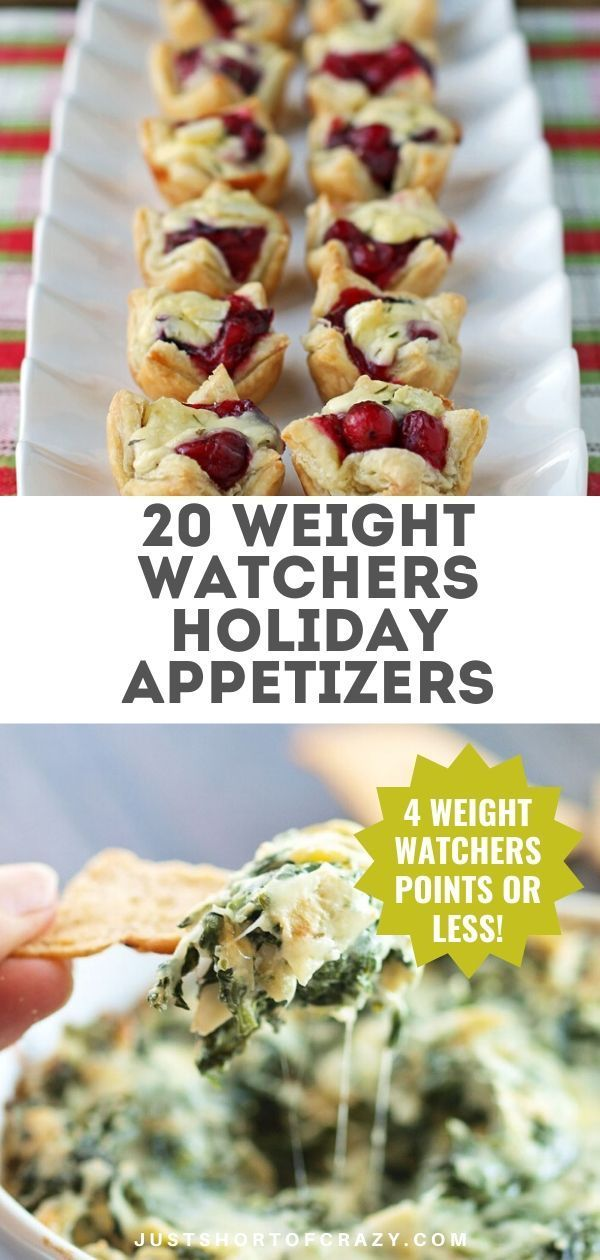 20 Weight Watchers Appetizer Recipes - Just Short of Crazy