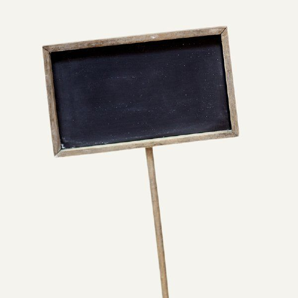 chalkboard sign with stake: Distressed wood framed chalkboard with ...