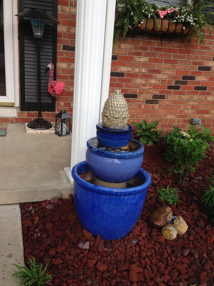 DIY  fountain for front landscape