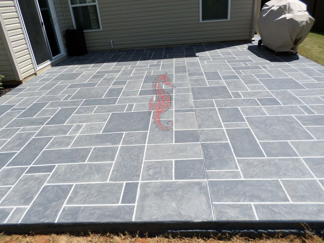 Decorative Concrete Overlay Patio (Slate Pattern ...