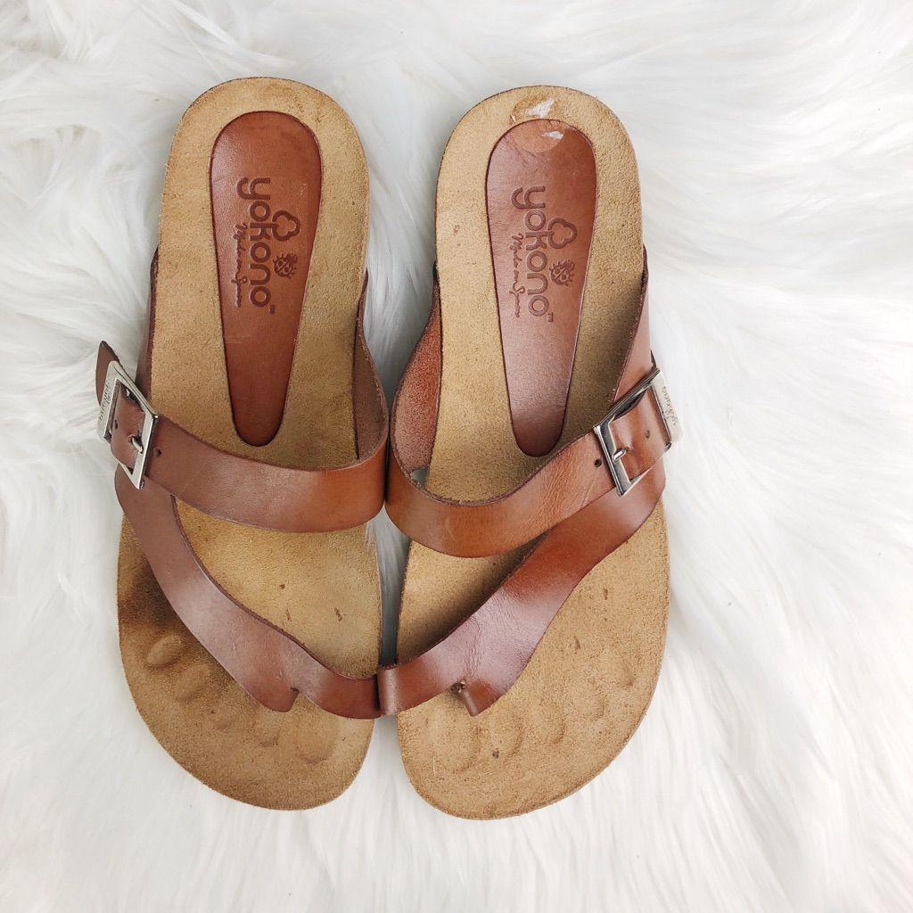 yokono sandals leopard