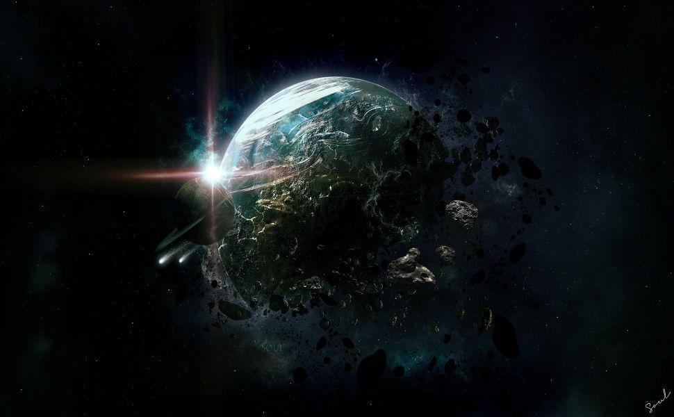 Planet Destruction Hd Wallpaper Solar System Wallpaper