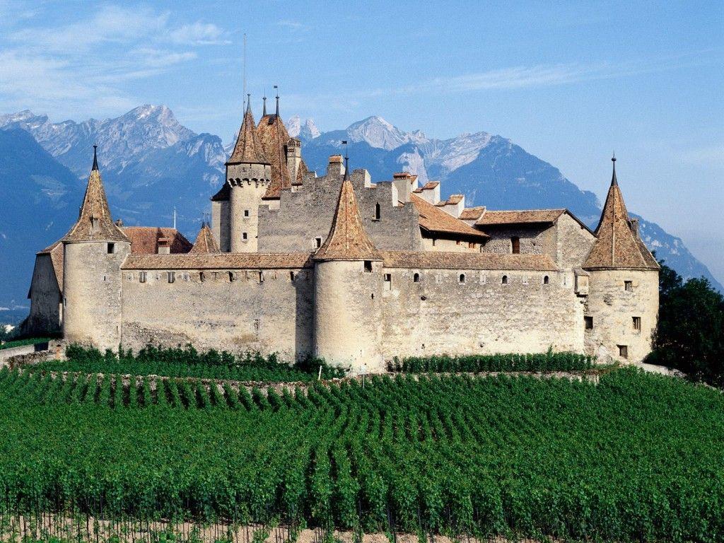 D Aigle Castle Switzerland Beruhmte Schlosser Genfer See Burg