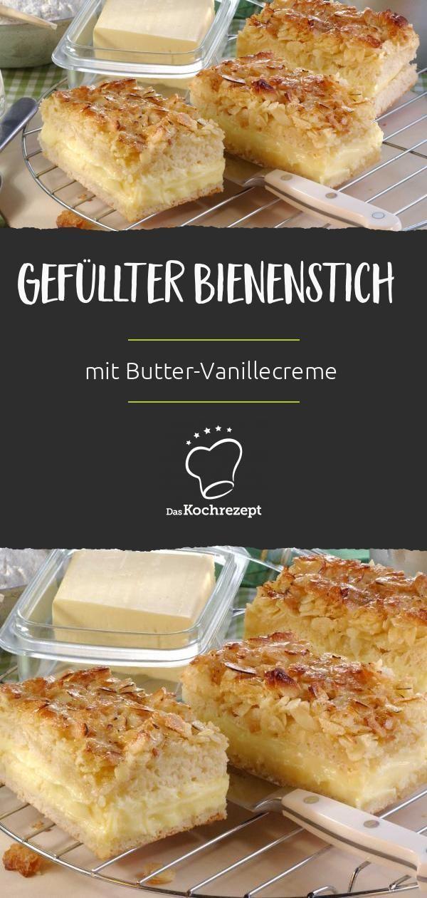Piqûre d'abeille au beurre et crème à la vanille – Recettes Stacey & Dessert   – Dessert Rezepte