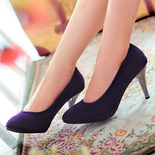 New Fashion Lady Classic Pure Colors High Heel Pump Sexy Shoes 4 Colors