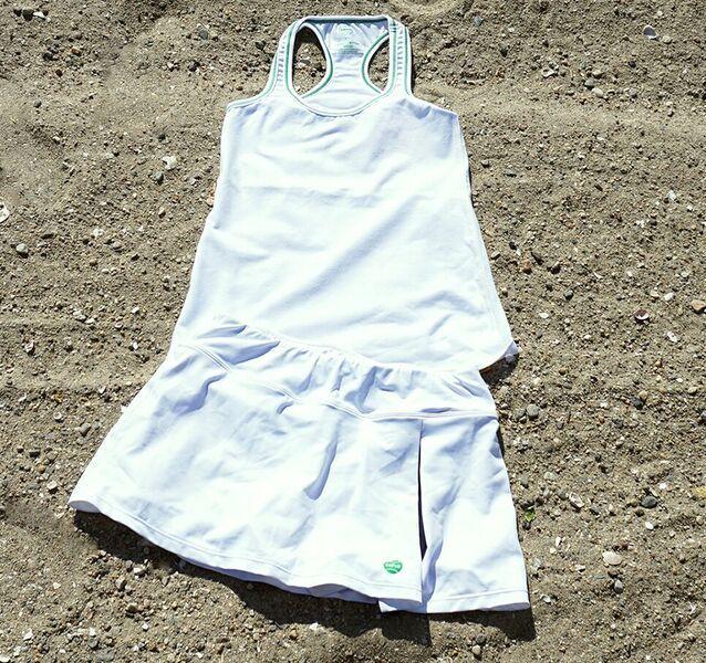 coho USA tennis clothes - practice tank & kelly skort