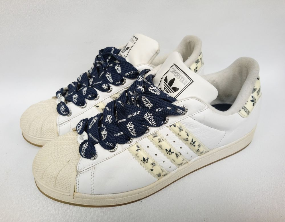 ADIDAS SUPERSTAR 35th ANNIVERSARY MONOGRAM STRIPE SZ 11