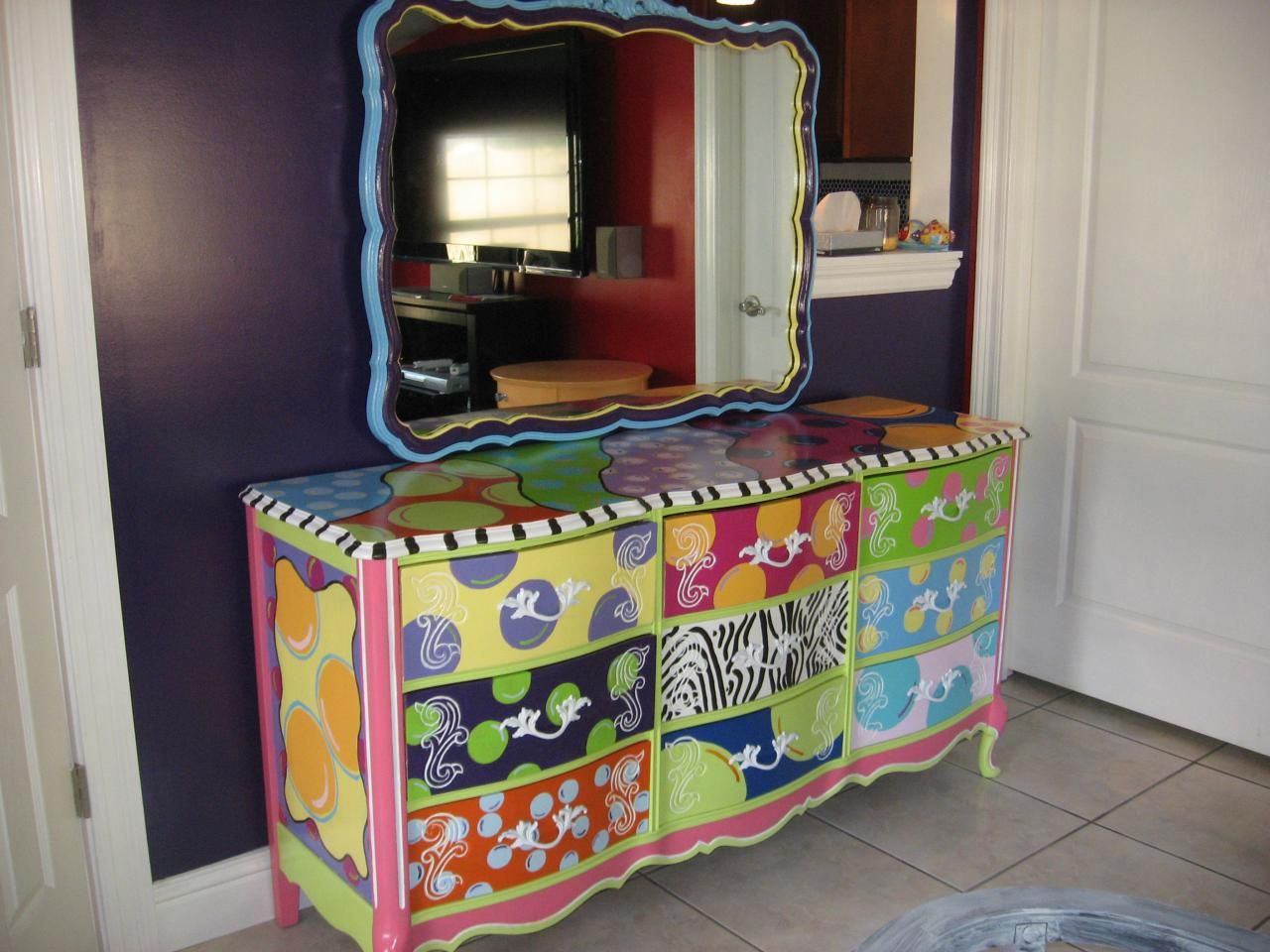 Beau Whimsical Painted Furniture   Bing Images