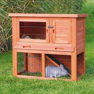 Trixie Rabbit Hutch With Sloped Roof Overstock Com