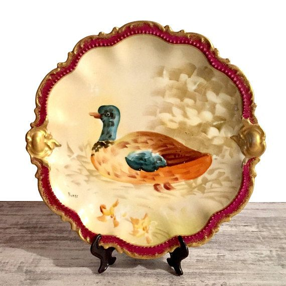Antique Limoges Coronet Plate, Signed Artist Norys, Hand Painted ...