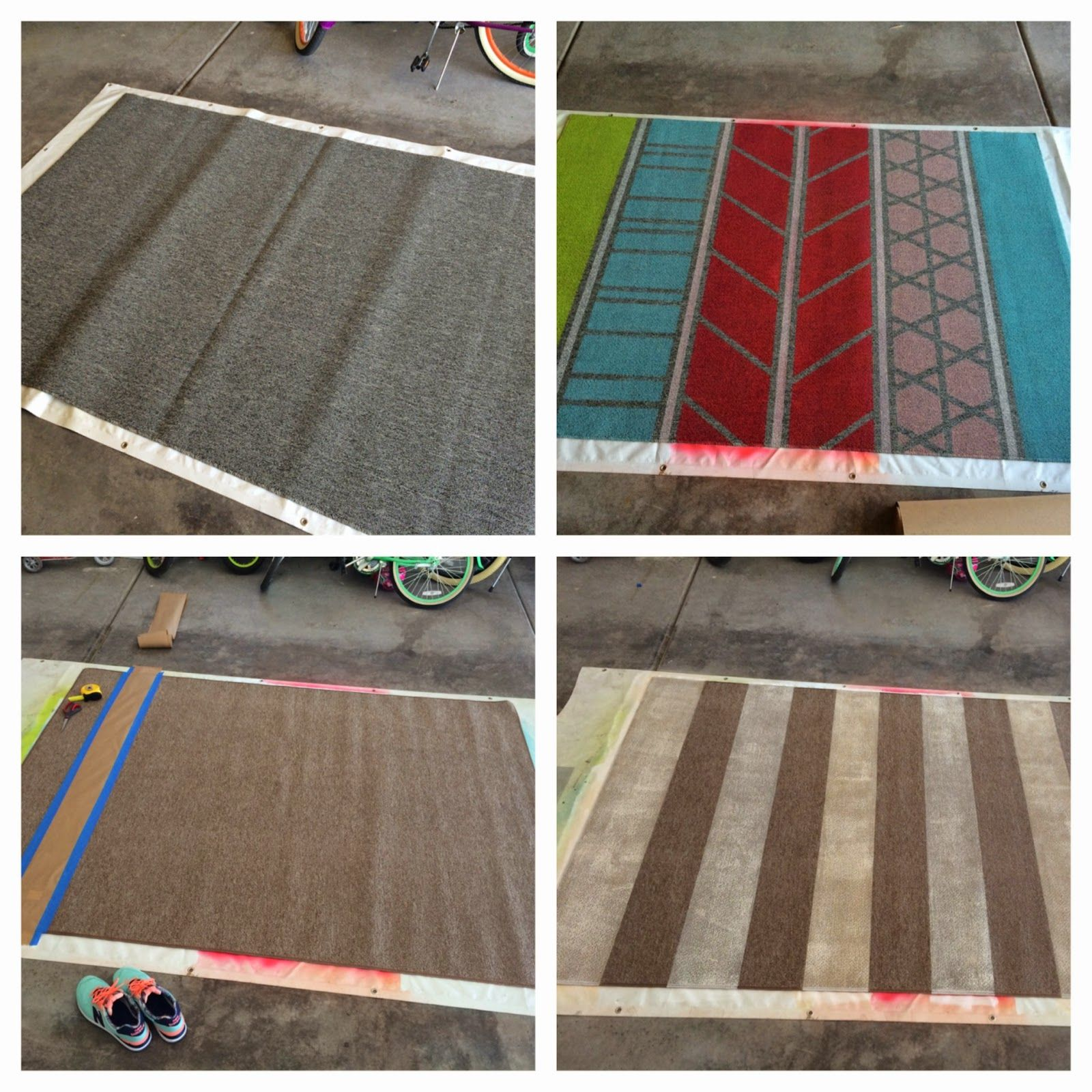 diy repurpose an old rug or make a new one from a cheap rug