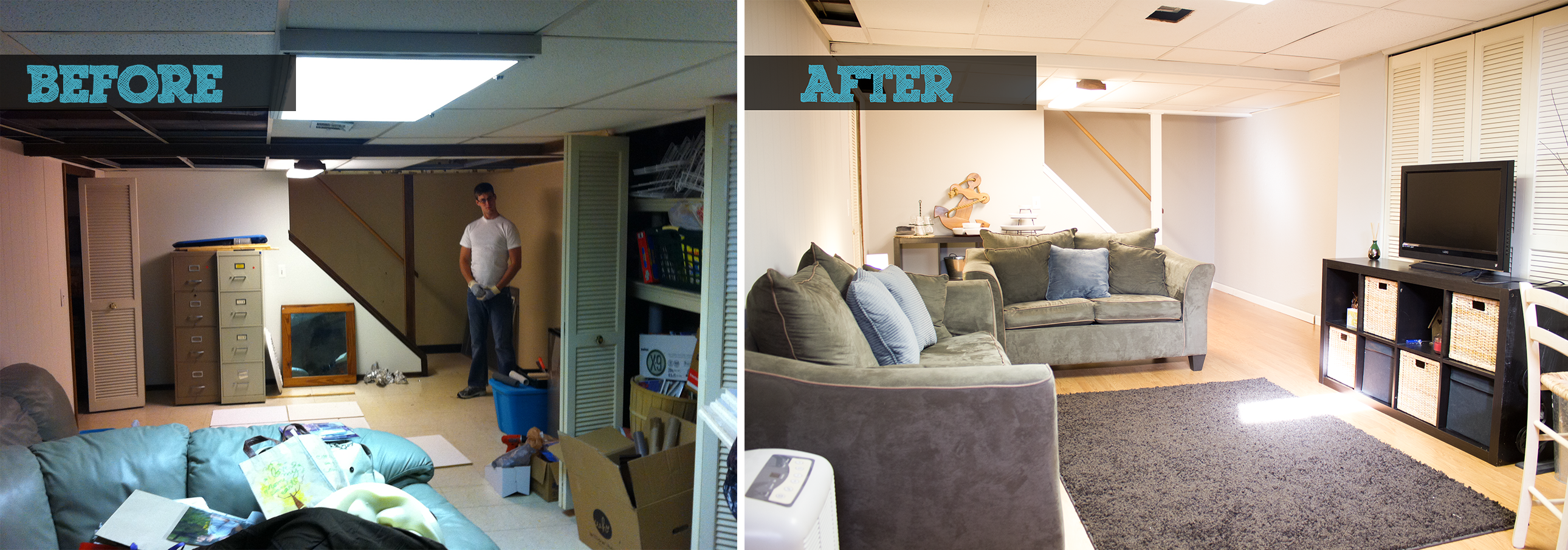 Lovely Our 6 Day Basement Makeover