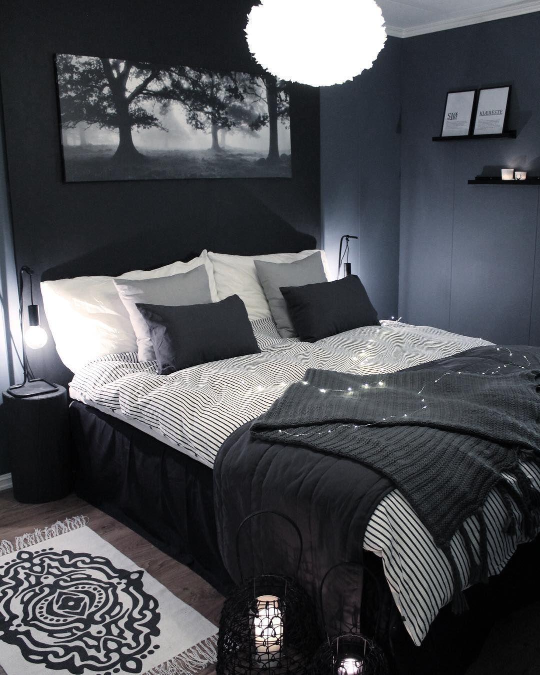 Black Amp Navy Blue Bedroom Men S Interior Home Decor ...