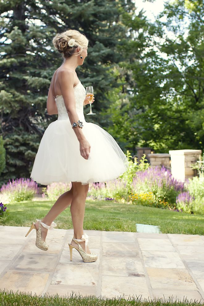 Eclectically Beautiful Wedding: Chic & Unique Bridal Style {1}    Such a pretty dress and shoes