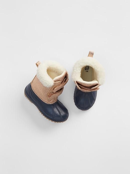Gap Baby Metallic Sherpa Duck Boots