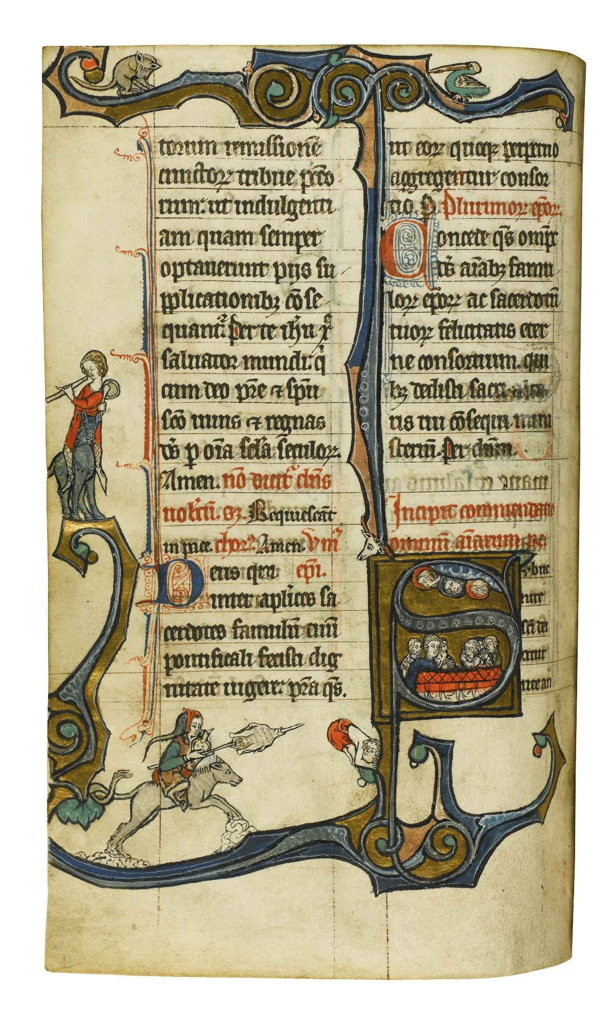 Ferial Psalter and Offices, apparently Use of St-Amé, Douai, in Latin [France (Arras), late 13th century] | lot | Sotheby's