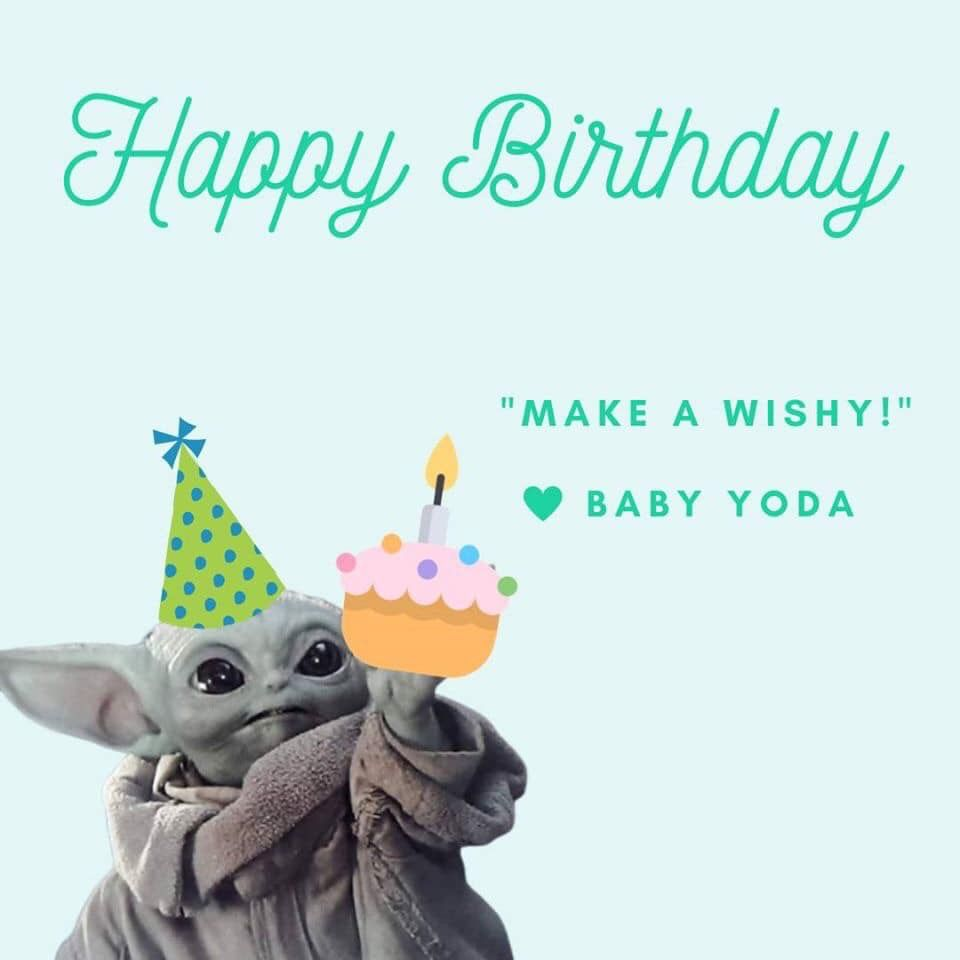 Pin By Hafsa Eiman On Words Yoda Happy Birthday Funny Happy Birthday Wishes Star Wars Happy Birthday