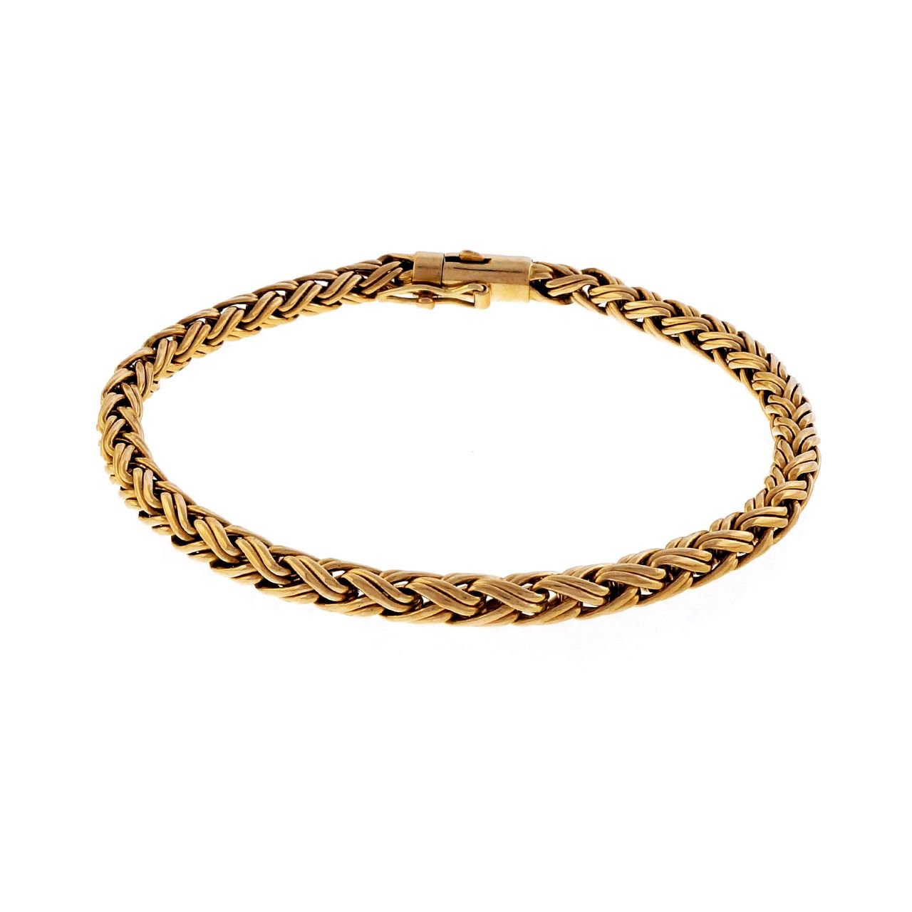 Estate tiffany u co mm wheat bracelet k yellow gold yellow gold