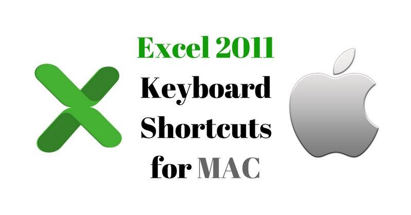 Microsoft Excel 2011 Keyboard Shortcuts for MAC Excel Pinterest - microsoft spreadsheet program crossword