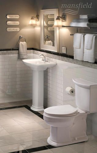 Mansfield Brentwood Elongated Front Smartheight Ada Two Piece Toilet