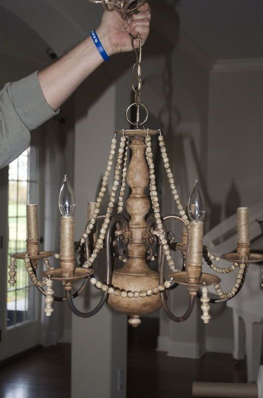Dear Lillie: Making Over a Chandelier with Chalk Paint | Entry Way ...