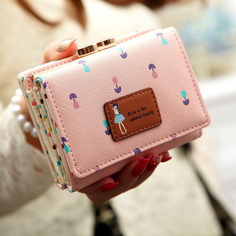 5fb132d8068 Fashion Flower Women Wallet Candy Colors Purse 6 Colors Cute Wallet Ladies  Long Day Clutch Coin