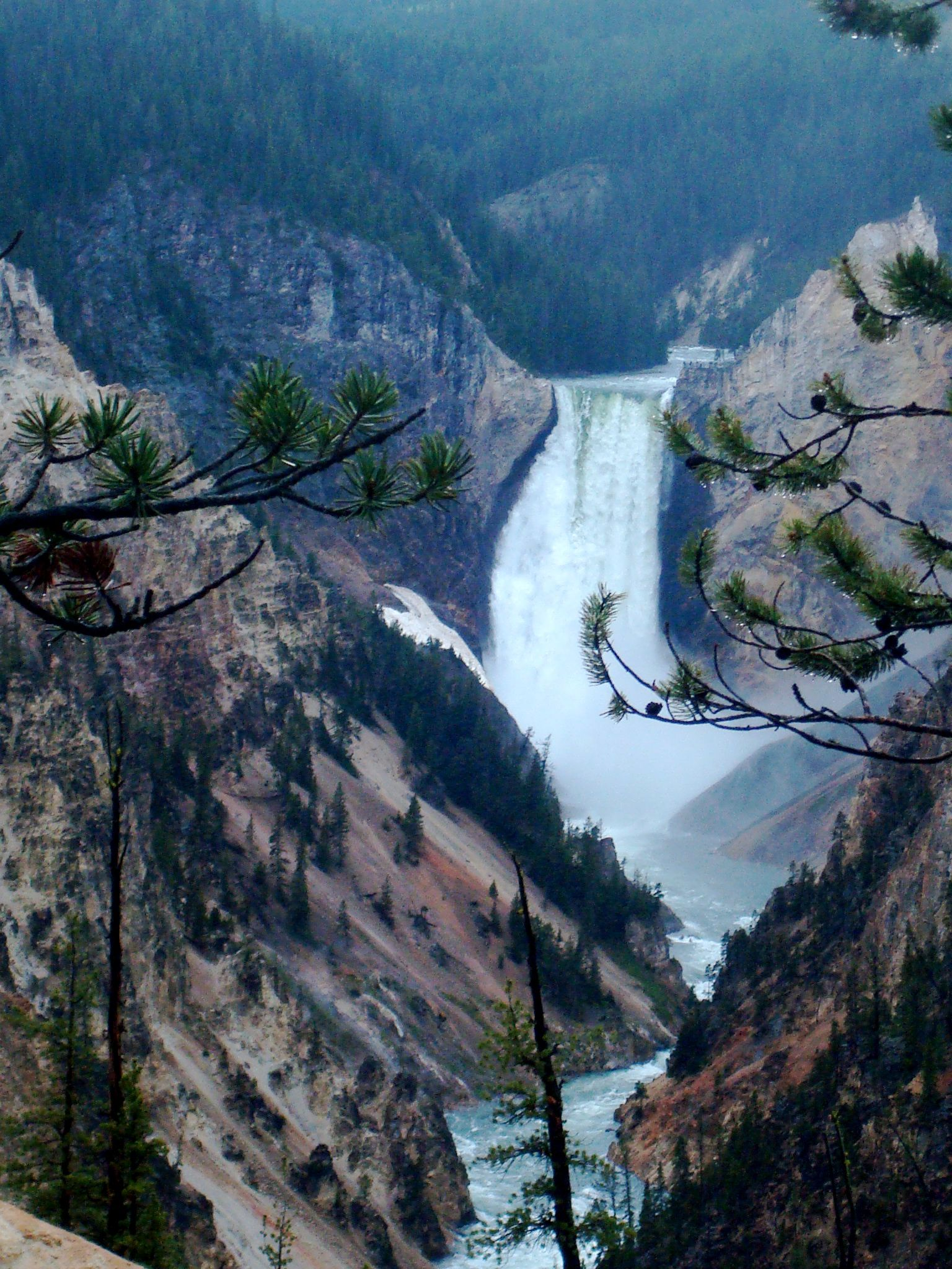Artist's Point, Yellowstone National parks trip