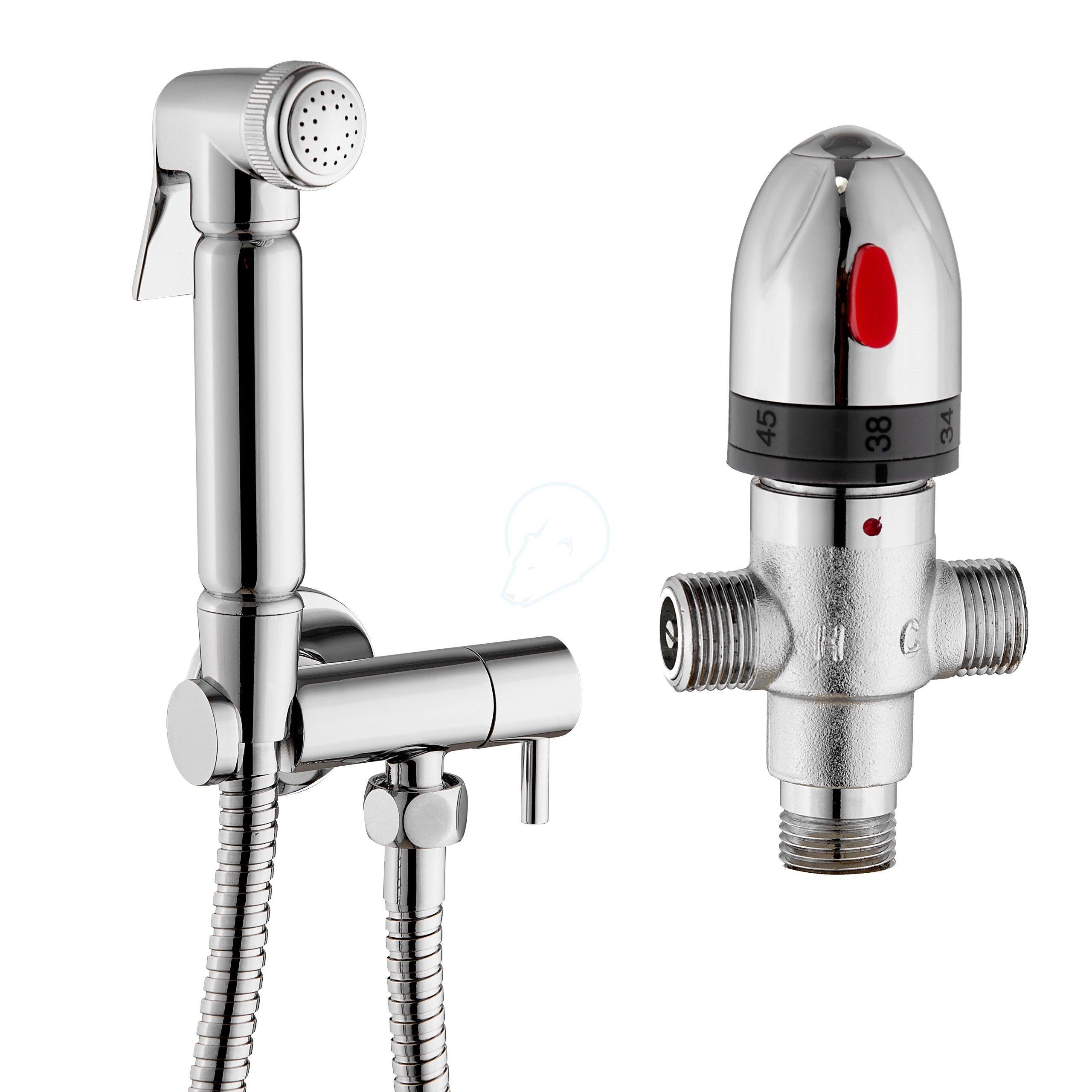 Brass Bidet Sprayer Shattaf Shower with Shut off Water