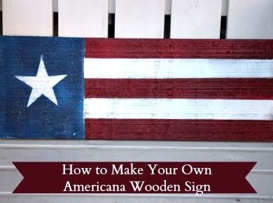 How to Make and Americana Wooden Sign