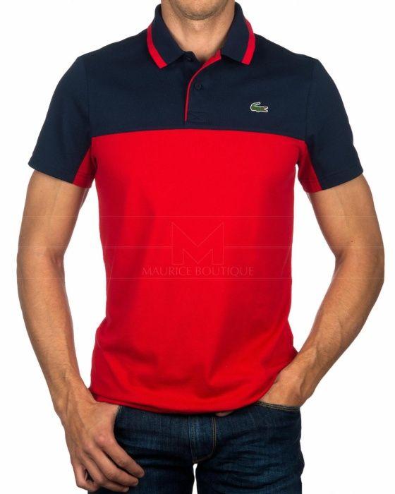 Polos Lacoste Sport - Azul Marino   Rojo Camisetas Polo, Polo Hombre,  Camisas Casuales 07f433000a