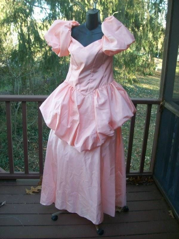 Vintage 80s Pretty In Peach Plus Size Prom Party Dress 2xl 3xl