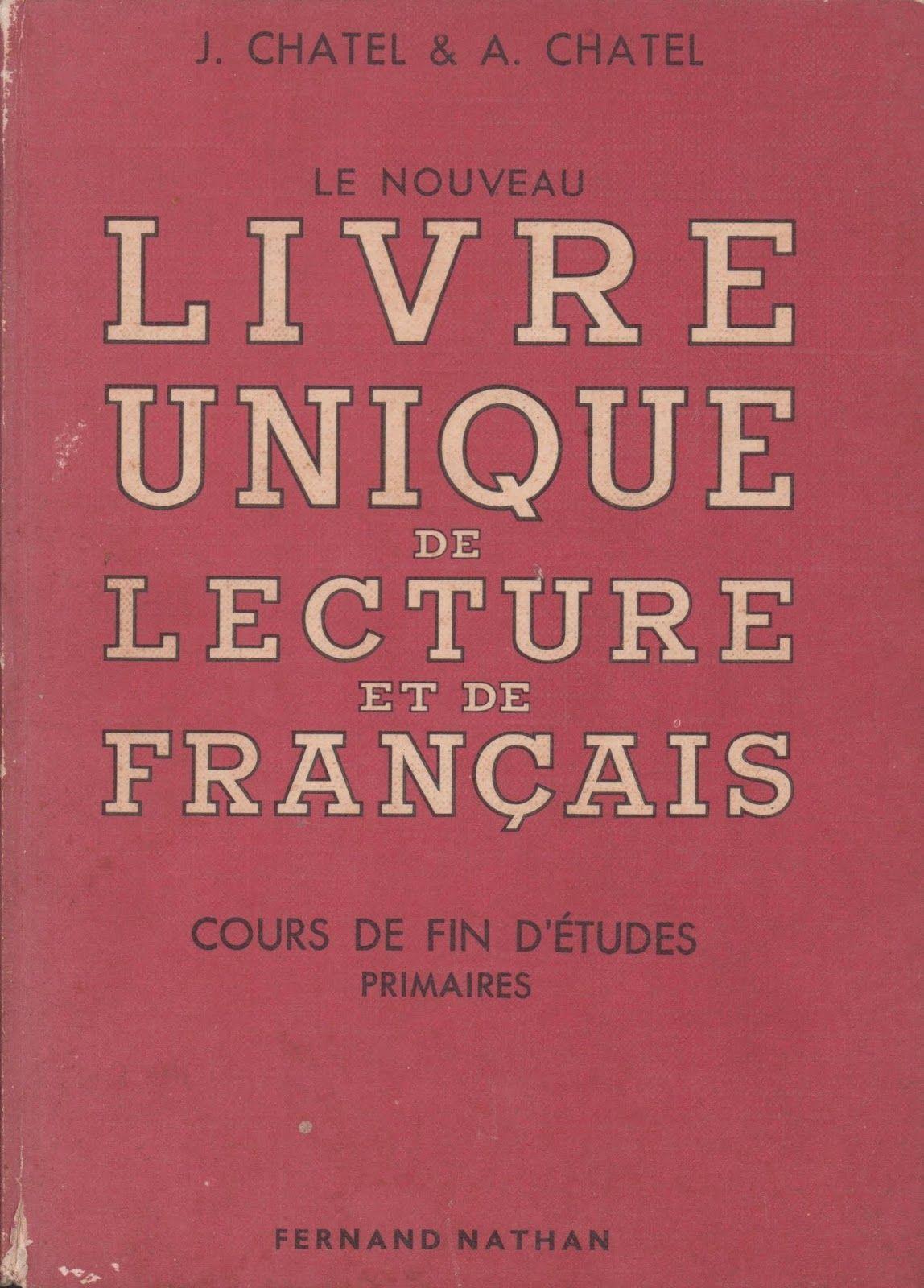 Chatel Le Nouveau Livre Unique De Francais Fin D Etudes