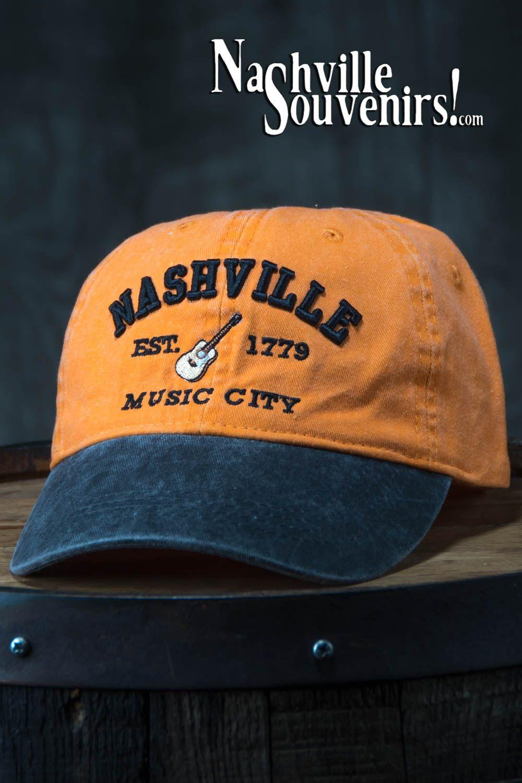 Nashville Est 1779 Music City Hat In Orange With Charcoal Bill Music City Nashville Music City Nashville Music