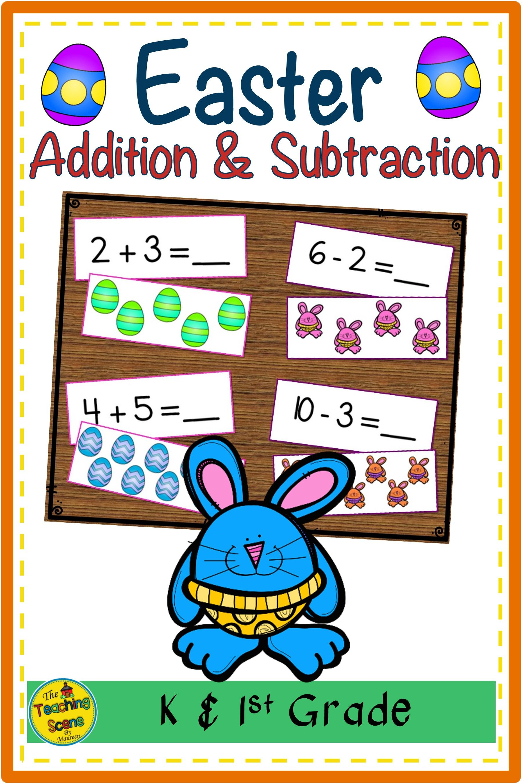 Easter Addition Amp Subtraction 0 10 Match Game In