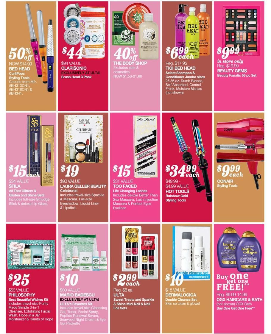 Ulta Black Friday Flyer 2014 Page 2 Black Friday Beauty Deals Black Friday Beauty Beauty Deals