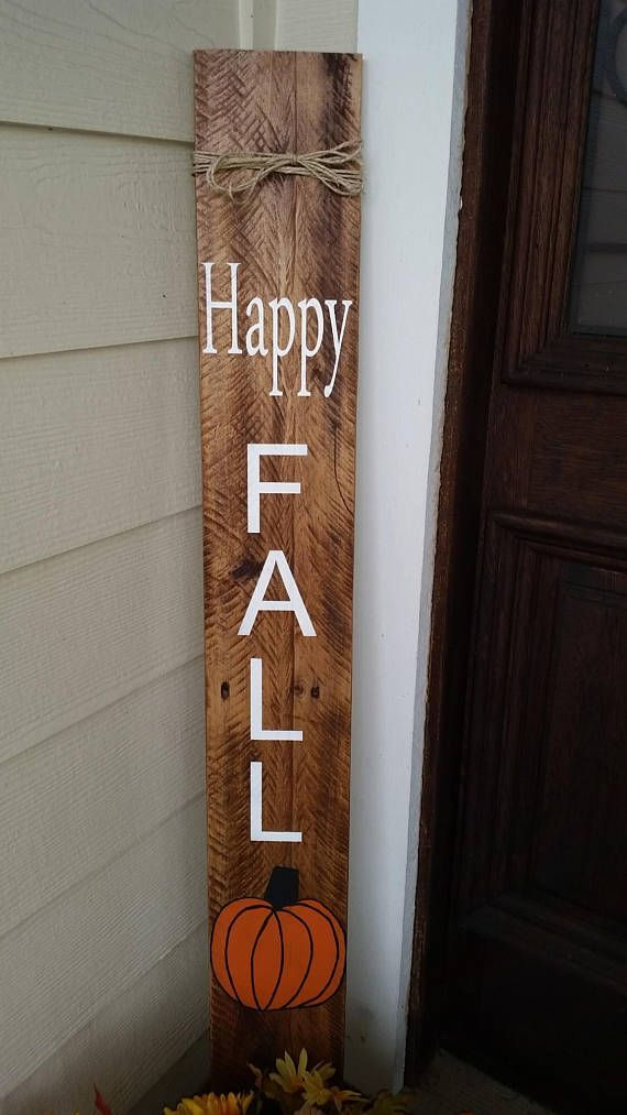 Welcome wood sign, fall decor, vertical sign, fall sign for porch, porch sign, fall porch sign, wood welcome sign, fall sign front door #victorianfrontdoors