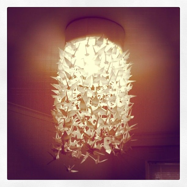 My Beautiful Paper Crane Lamp Shade Which Only Took Me A Month To Make On  And