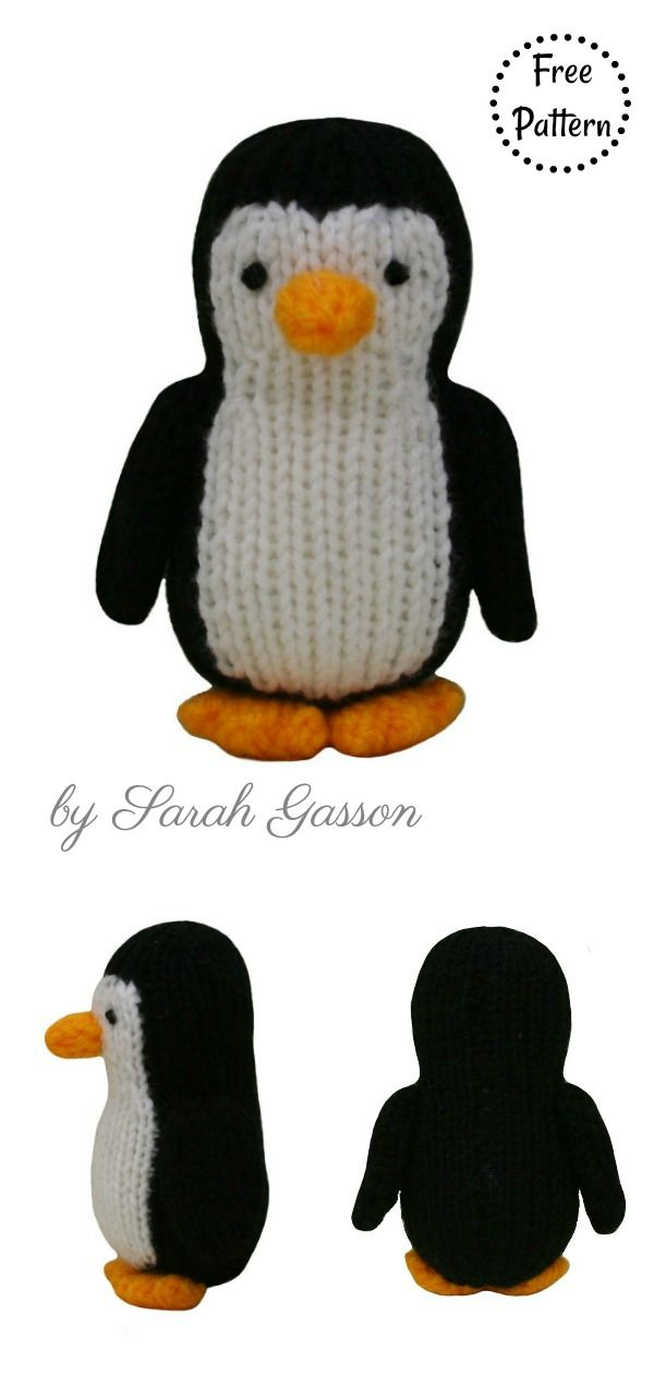 Amigurumi Penguin Free Knitting Pattern and Paid