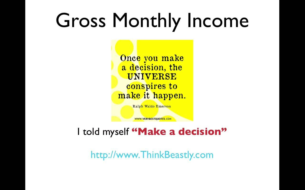 Gross Monthly Income And Secrets Revealed To Increasing It How