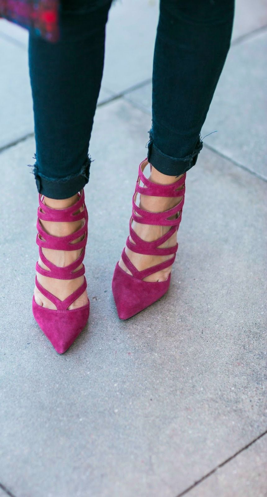 cranberry caged heels