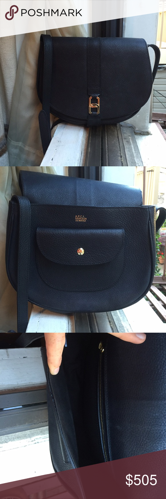 51a71709b3 A.P.C.   Vanessa Seward Navy Crossbody Saddle Bag NWOT fantastic condition!  All navy leather and hold accent hardware. Comment with any questions!