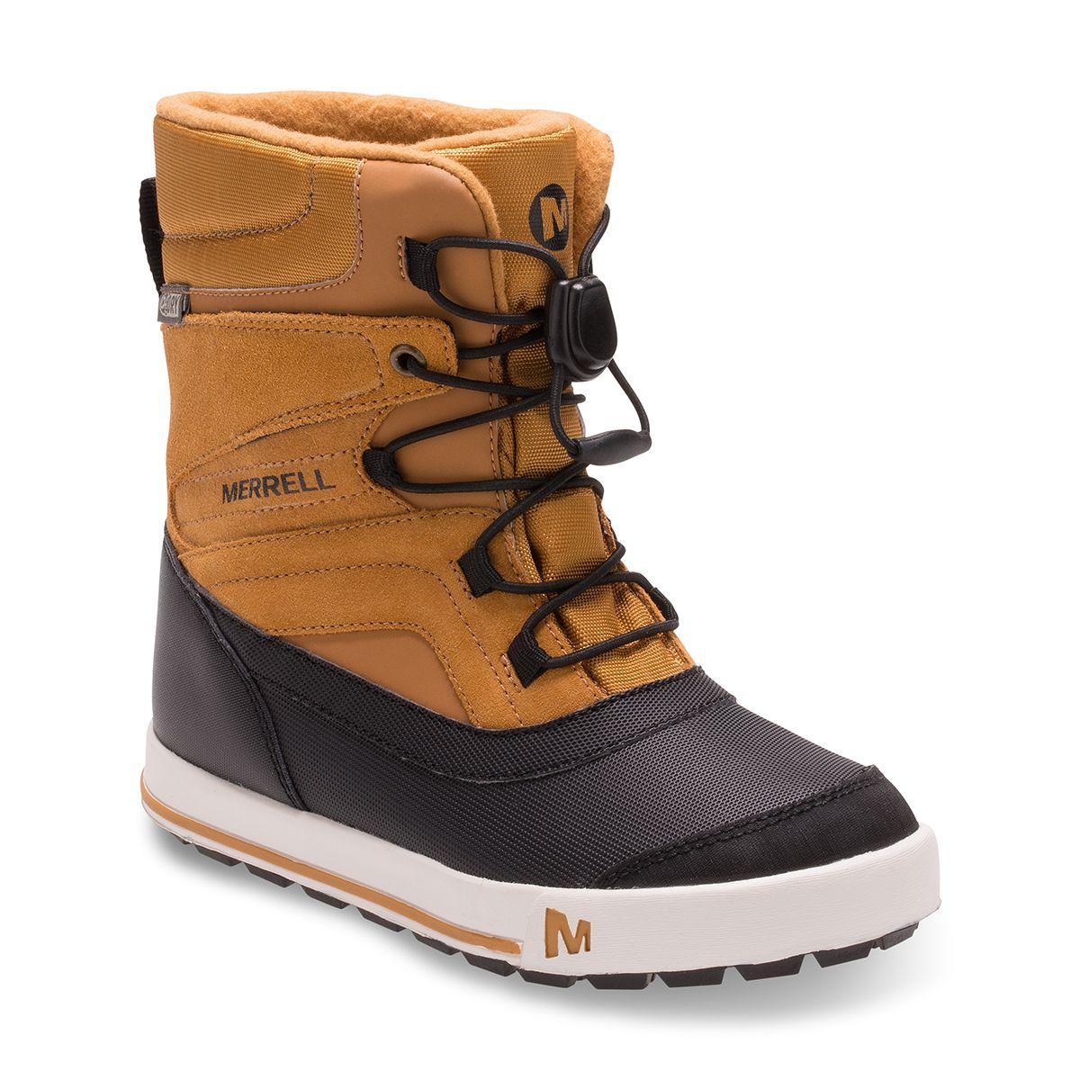 fd6639b4d26253 Doorout Angebote Merrell Snow Bank 2.0 Waterproof Kinderschuhe  wheat black